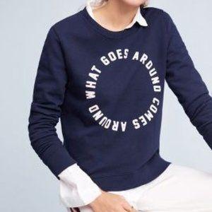 EUC Anthro Navy Sweater